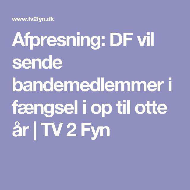 Afpresning: DF vil sende bandemedlemmer i fængsel i op til otte år   TV 2 Fyn