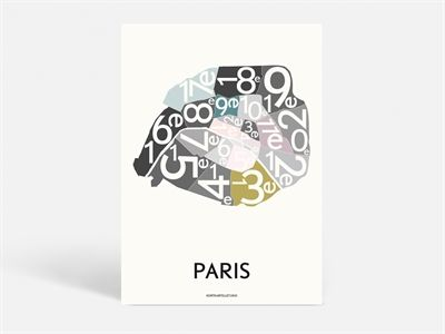 Paris mon cheris! One of the most romantic cities in the world - right here on a poster! Who want's to take home a piece of Paris?