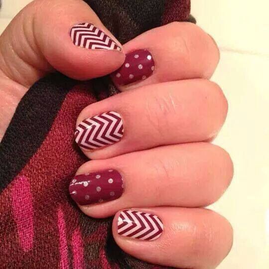 jamberry nails - boysenberry chevron