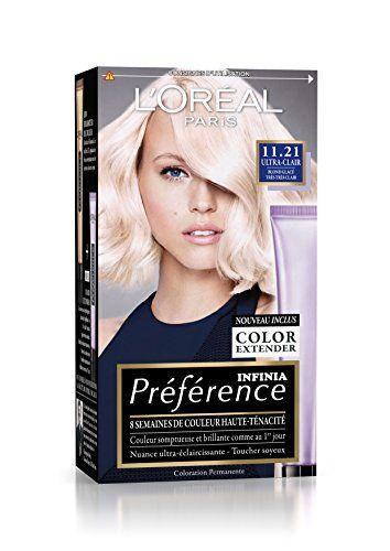 prfrence loral paris coloration permanente 1121 blond glac trs trs clair couleur cheveux - L Oreal Coloration Blond