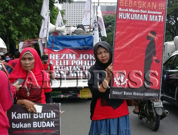 Peringati Hari Buruh Migran Internasional, Massa Demo Kedubes Saudi di Jakarta, Ketidakadilan yang sering menimpa buruh migran di Saudi dan beberapa negara di Timur Tengah.