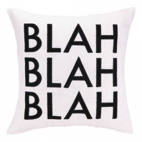 THE WELL APPOINTED HOUSE - Luxury Home Decor- Blah Blah Blah Pillow