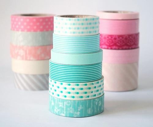 pink - aqua washi tape
