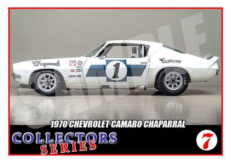 1970 Chevrolet Camaro # 1 Trading Card-SCCA Racing Trans Am-Jim Hall-Vic Elford | eBay