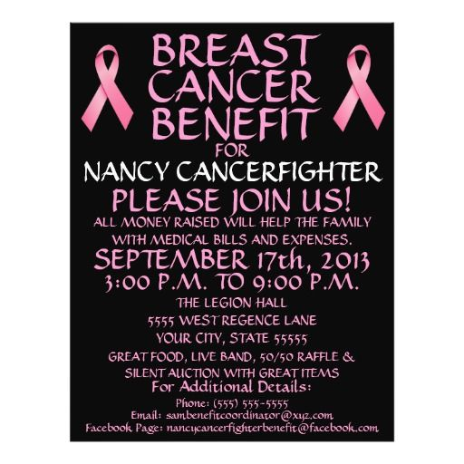 15 best Fundraiser Benefit Flyers For Cancer and Health Awareness - benefit flyer templates