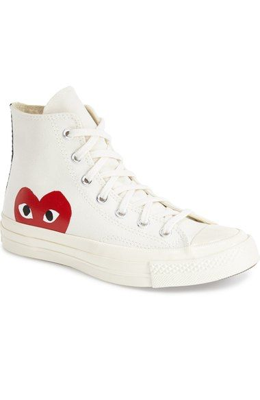 Comme des Garçonsx Converse Chuck Taylor®'PLAY - Hidden Heart' High TopSneaker (Men) available at #Nordstrom