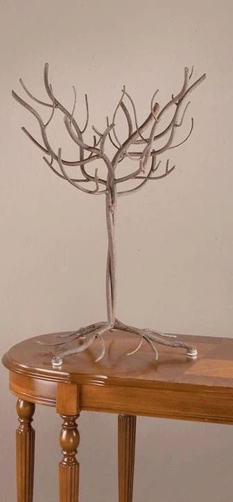 Display Tree Natural Design 27 A Metal Ornament That Looks Like Real Wood Great All By Itself Trees And Displays