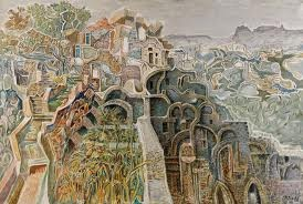 Konstantinos Parthenis, 1878- 1967, was a Greek painter of Egyptian birth. He studied in Vienna under the German painter Karl Dieffenbach  and first exhibited at the Boehms Künstlerhaus in 1899. His first exhibition in Athens was in 1900. From 1909 to 1911 he lived in Paris, where he participated in the Salon d'Automne. In 1920, after a retrospective exhibition of his work at the Záppeion, Athens, he received the art and literature award of the Academy of Athens…