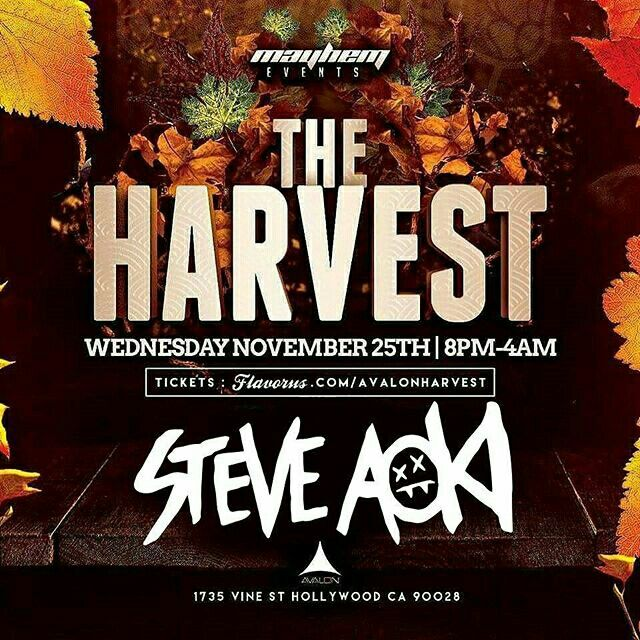 #Repost: Who's ready for some AOKI? FREE ENTRY ALL NIGHT To RSVP TXT 805.490.2457  #MayhemHollywood #MayhemEvents #AvalonHollywood #818 #LosAngeles  #PierceCollege #CSUN #Reseda #CanogaPark #LA #EDMEvents #ElectroHouse #NightLife #Rave #Downtown #LAClubs #DjLife #Belasco #DV8 #OHM #Avalon #HardHouse #Bigroom #NightLife #CreateHollywood #SupperClub #LED Presents #TheHarvest