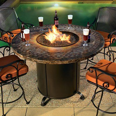 I WANT THIS!! bar height fire pit---perfect for smores and wine