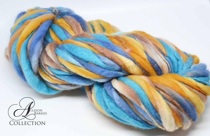 Handspun Thick and Thin Super Bulky Chunky Merino Wool Yarn Aztec Skies by allisonbCOLLECTION on Etsy https://www.etsy.com/ca/listing/464879078/handspun-thick-and-thin-super-bulky
