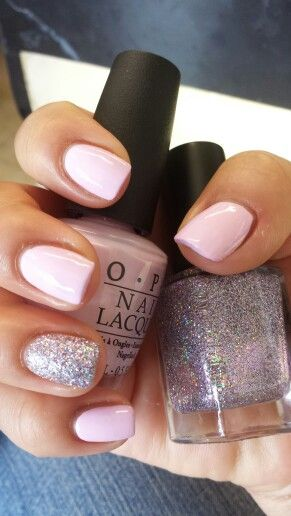 O.P.I mod About you and Color Club Sugarplum Fairy ..done by @Jenny Nguyen at Art nails 2.. tulsa ok