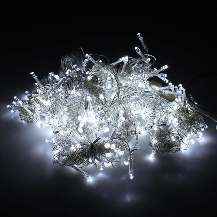 20m 200LED Guirlandes à Piles Etanche Résistant à l'eau avec 8 modes Idéal Décoration pour Extérieur Intérieur Mariage Jardin Fête Noël (Blanc-froid) - Lumières de Noël, les décorations d'arbres de Noël, lumières décoratives, écl…Voir la présentation