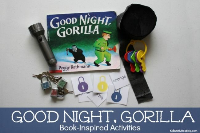 Good Night Gorilla Book Activities {Book Inspired Printables for Kids}