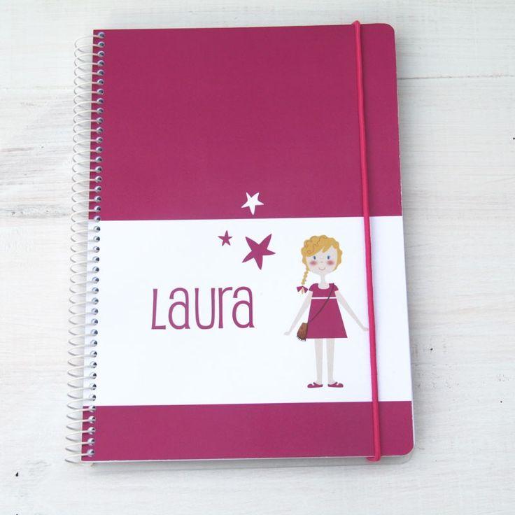 cuaderno personalizado con niños, configura la imagen del niño eligiendo tipo de pelo, color, etc y pon el texto que quieras. Ideal para regalar!