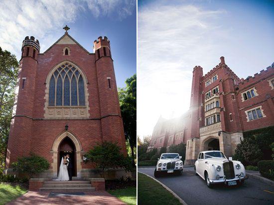 St Georges Chapel, UWA // Kerri Mackintosh Photography via Polka Dot Bride