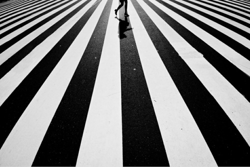 walking on stripes