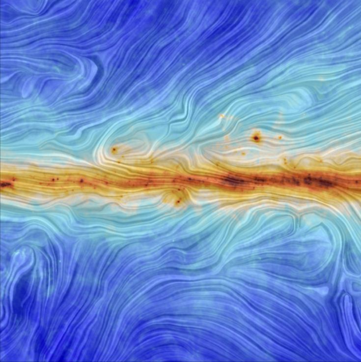 The structure of the Milky Way's magnetic field, as measured by the European Space Agency's Planck satellite.   The 28 Most Breathtaking Science Photos From 2014