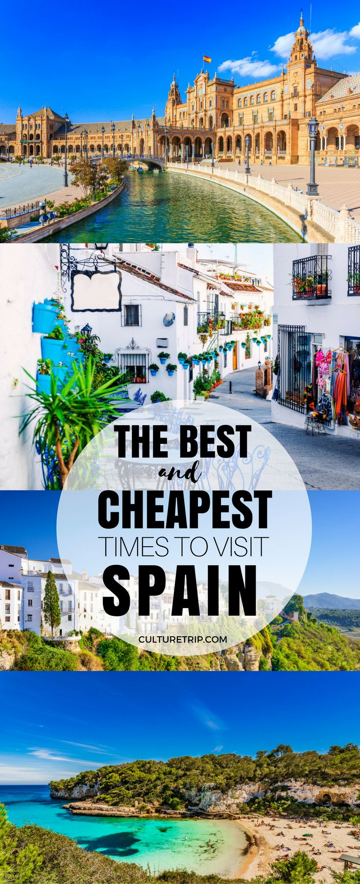 The Best and Cheapest Times to Visit Spain #BudgetTravel #BudgetDestination