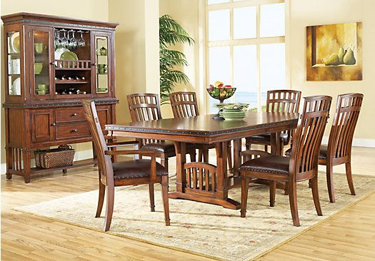 Shop for a cindy crawford home austin hills 7 pc trestle diningroom at rooms to go find dining - Dining room sets austin tx ...