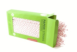 For when you simply must use a straw: Dotted Paper Straws. Biodegradable,