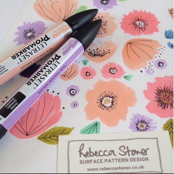 Marker Pen Flowers by Rebecca Stoner www.rebeccastoner.co.uk