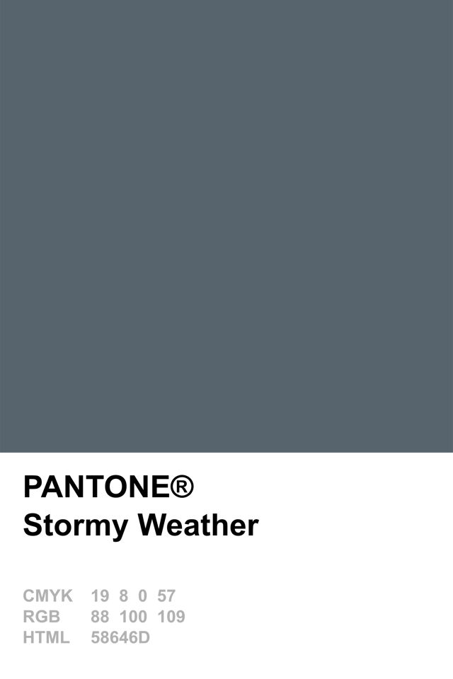 Pantone 2015 Stormy Weather