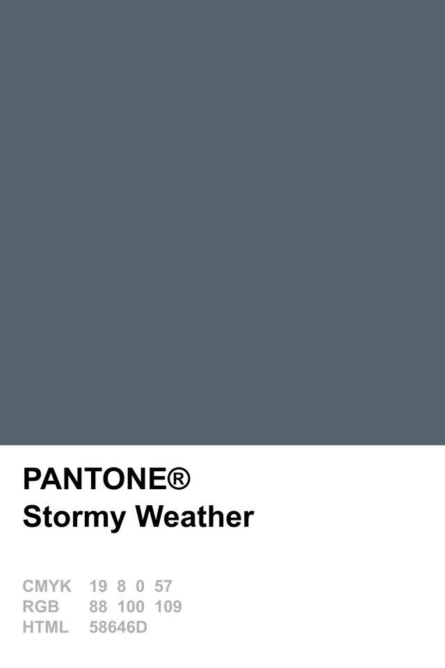 Pantone 2015 Stormy Weather