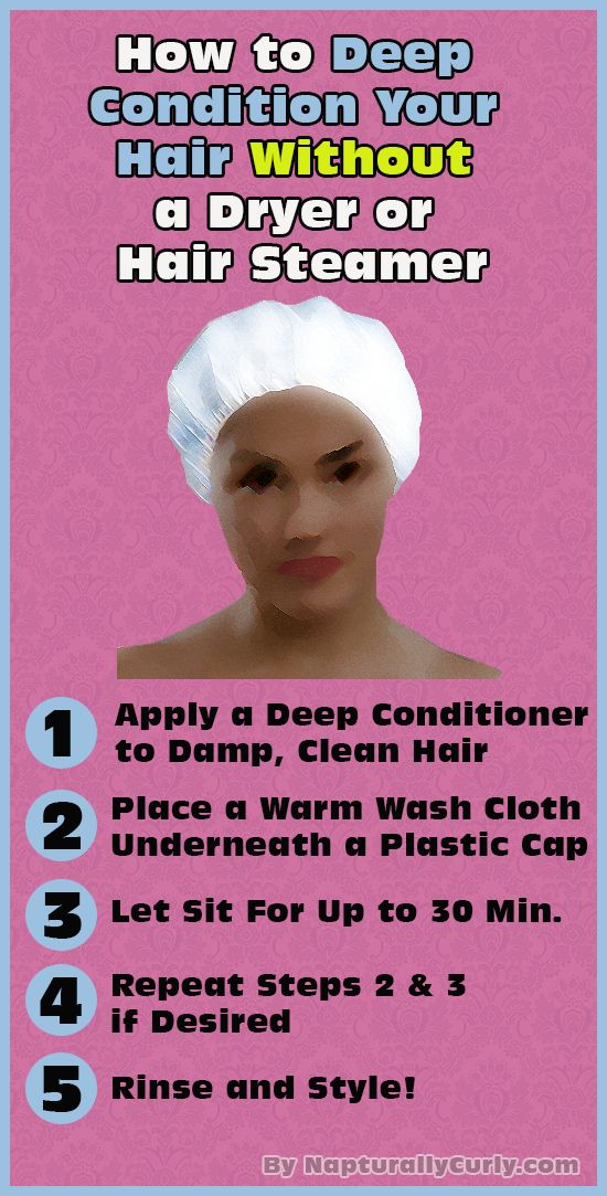 Who needs hair steamers or dryers!  You can deep condition your hair easily with a few simple steps!