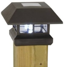 Moonrays Solar Powered Plastic Post Cap Lamp Light