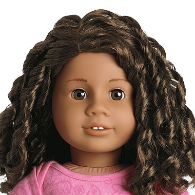 American Girl® Dolls: #26 Medium skin, curly dark brown ...