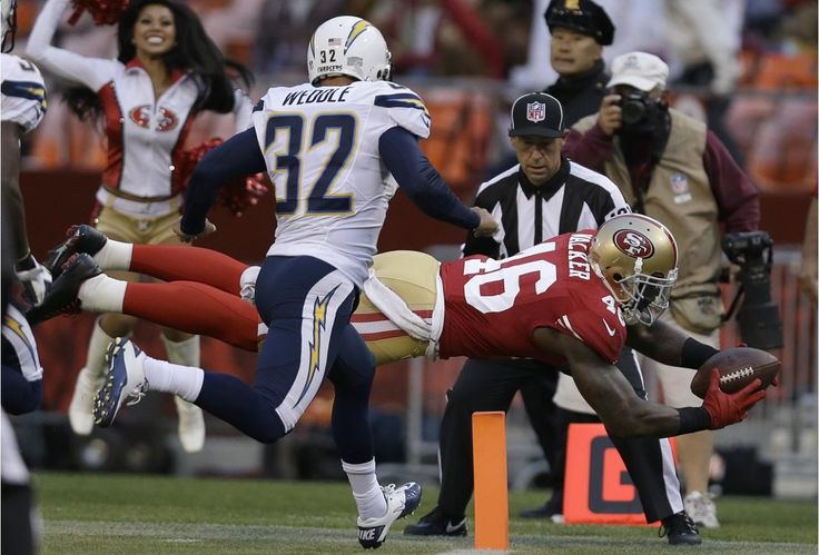Preseason is over and NFL is back! Let's look at this NFL preseason picture Because this might just help you in your NFL football betting! Check out San Francisco 49ers tight end Delanie Walker (46) scores on a touchdown reception past San Diego Chargers defensive back Eric Weddle (32) during the first quarter of an NFL preseason football game. Visit: www.sportsbook.ag...