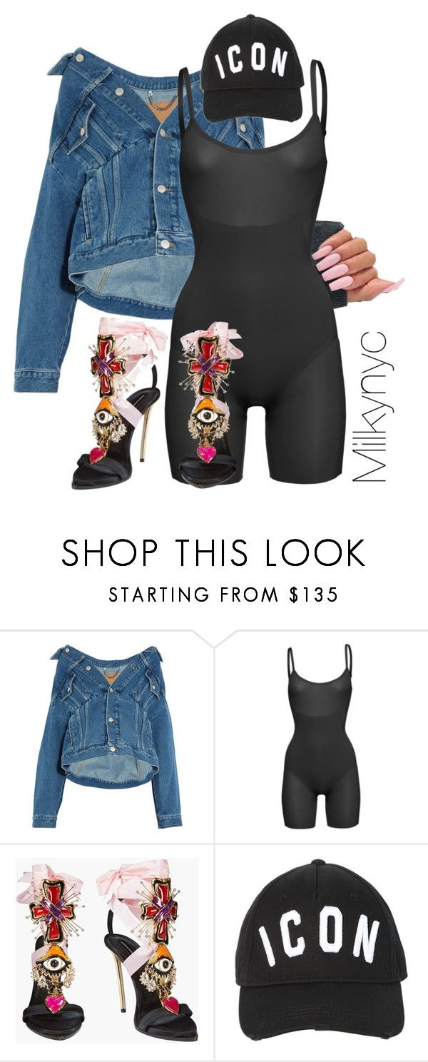 """Untitled #1006"" by milkynyc ❤ liked on Polyvore featuring Balenciaga, SPANX and Dsquared2"
