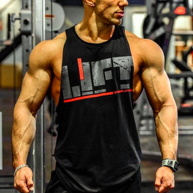 Breathable loose mens gym bodybuilding tank tops men