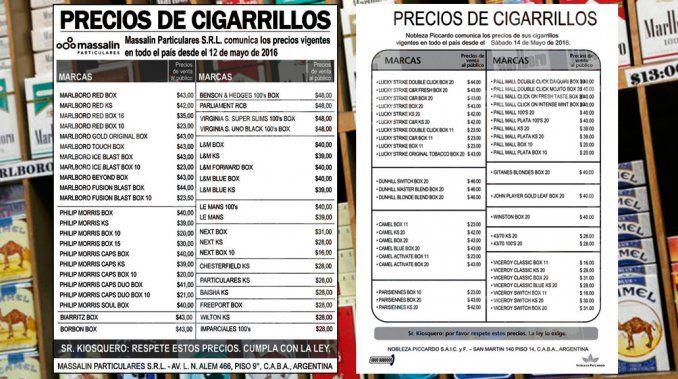 Por la caída en el consumo, bajaron los precios de todos los cigarrillos | Precios, Cigarrillos