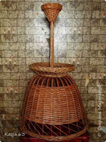Поделка изделие Плетение Абажур в загородный дом Трубочки бумажные фото 1