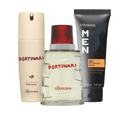 O Boticário - Kit Portinari Perfume + Des. Body Spray + Gel de Limpeza por R$ 139,98
