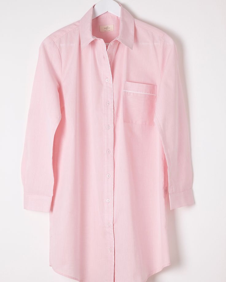The Jay Pink Chambray Nightshirt