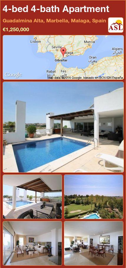 4-bed 4-bath Apartment in Guadalmina Alta, Marbella, Malaga, Spain ►€1,250,000 #PropertyForSaleInSpain