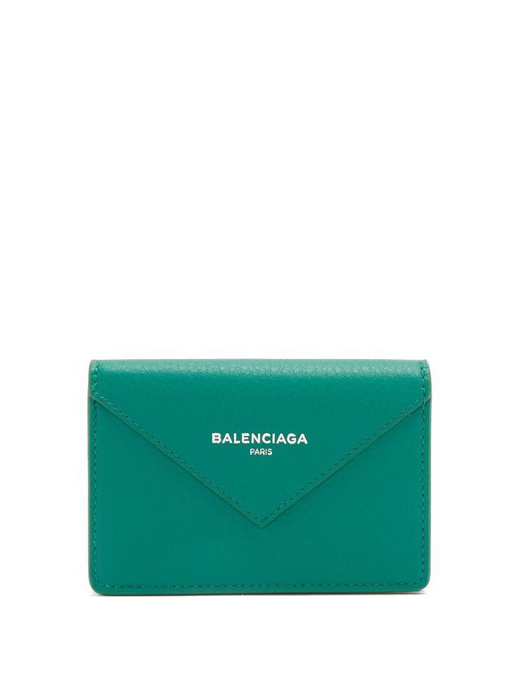 Balenciaga Papier envelope leather cardholder