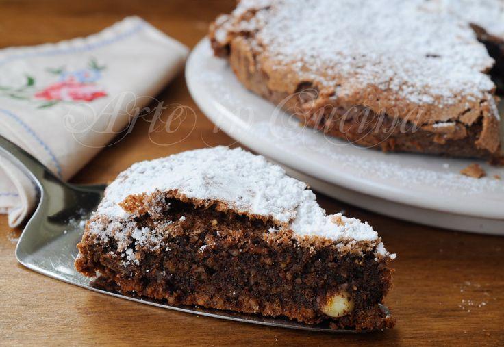 Torta cioccolato e mandorle veloce senza farina, senza lievito, senza robot, facile da preparare, dolce da merenda,colazione, torta morbida, senza glutine, senza lattosio