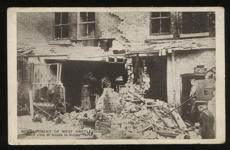 the Blucher inflicted damage on Hartlepool