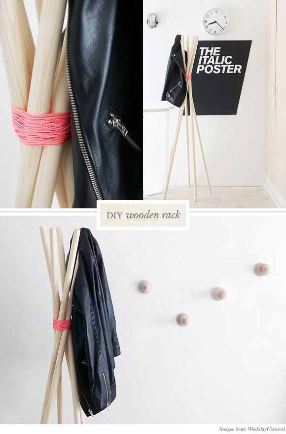 diy clothes rack | DIY Clothing Racks from WeekendCarnival | Creature Comforts