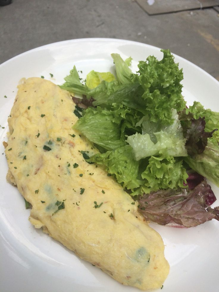 Ham, Cheese & Mushroom Omelette