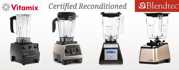 Buy Certified Refurbished Blendtec or Vitamix blenders with free shipping from Blender Babes