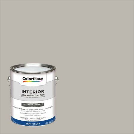ColorPlace, Interior Paint, Pewter Grey, #50YY 47/053, Semi-Gloss, 1 Gallon, Brown