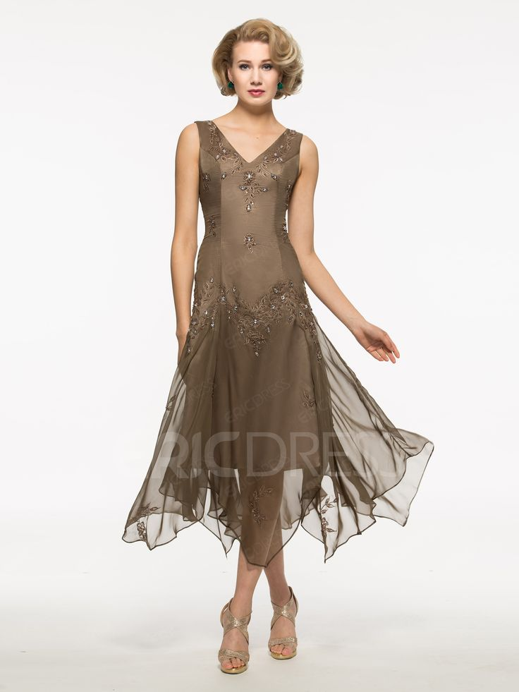 Beautiful Beading High Low Mother Of The Bride Dress With