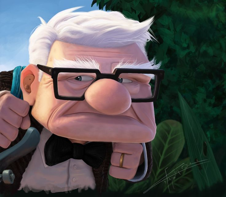 Pixar's Up :Carl Fredricksen by Imaginesto.deviantart.com on @deviantART
