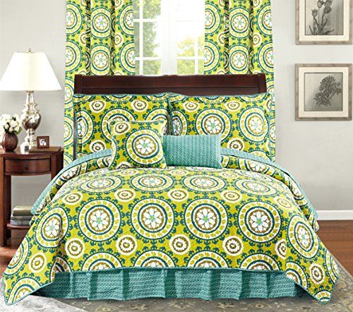 lime green bedspread