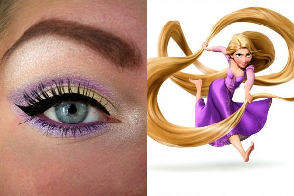 my fave :) tangled inspired eye make up